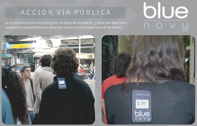 Acción en la Via Pública para Blue Navy