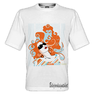 belajar design t-shirt | GLAMOROUS GIRL T-SHIRT DESIGN