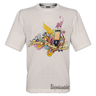 belajar design t-shirt | Lonely phone t-shirt design
