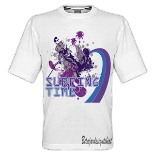 belajar design t-shirt | Surfing mania t-shirt design