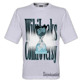 belajar design t-shirt | Wikileaks controversy t-shirt design