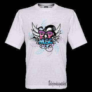 Belajar design t-shirt | POP MUSIC GENRE T-SHIRT