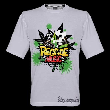 Belajar design t-shirt | REGGAE MUSIC GENRE T-SHIRT