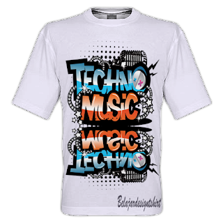 Belajar design t-shirt | TECHNO MUSIC GENRE T-SHIRT