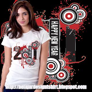 Belajar design t-shirt | HAPPY NEW YEAR 2011