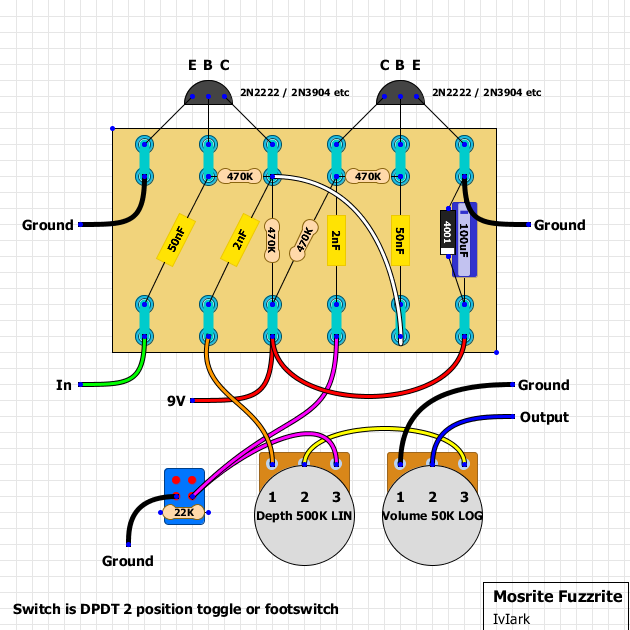Guitar fx layouts mosrite fuzzrite below is a modded version as per js comments below give it a try and see what you think asfbconference2016 Images