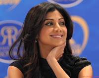 Photos of Shilpa Shetty in a news conference for Rajasthan Royals - 03