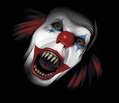 How To Paint A Scary Clown Face