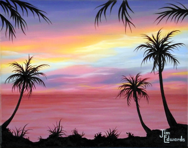 Three Palms 11 x 14