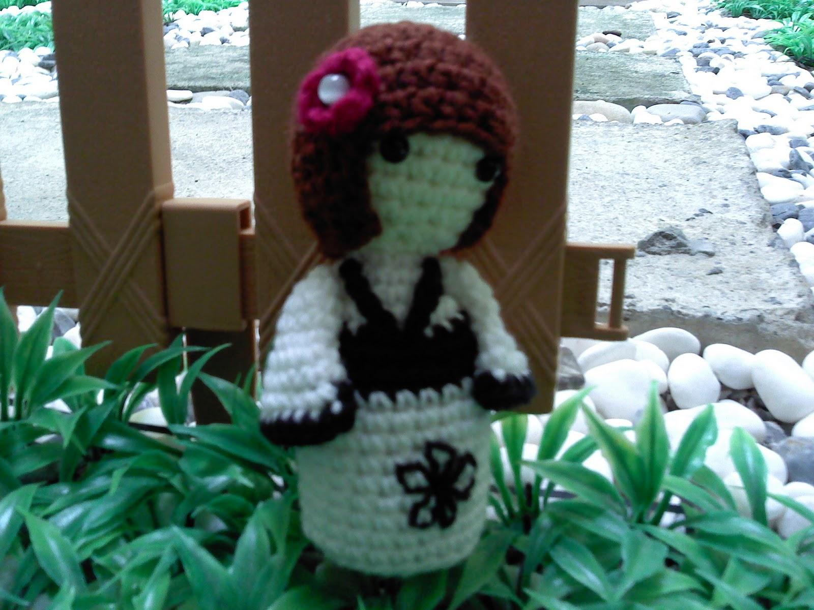Amigurumi Kokeshi Doll Pattern : Hook & yarn ~ ~: crochet kokeshi doll