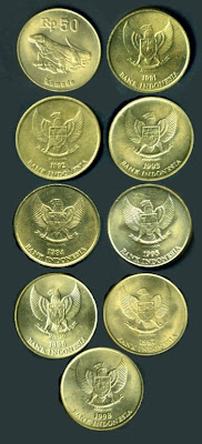Uang Koin 50 Rupiah 1991-1998