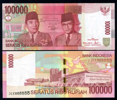 100.000 rupaih, Soekarno-Hatta & Gedung MPR