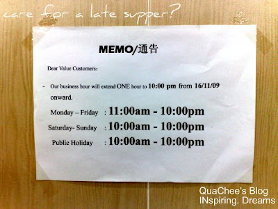 bao bao pan mee opening hours