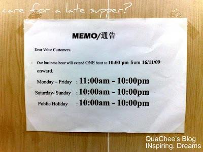 bao bao pan mee opening hours