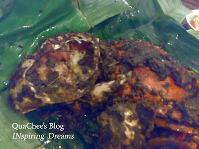 kepiting asap, crab with eggs