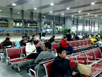 shanghai train station, waiting room