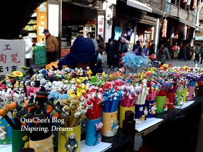 hangzhou, qinghefang road, souvenir