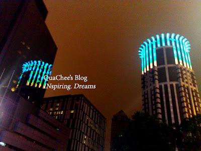 shanghai nanjing road, colourful building