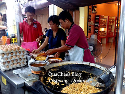 muar food, oyster omelette