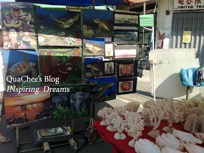 gaya market painting sea shell