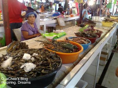 dtalipapa market boracay prawn lobster