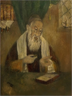 obraz olejny przedstawiający Żyda roztropnego, pędzla Marka Strójwąsa