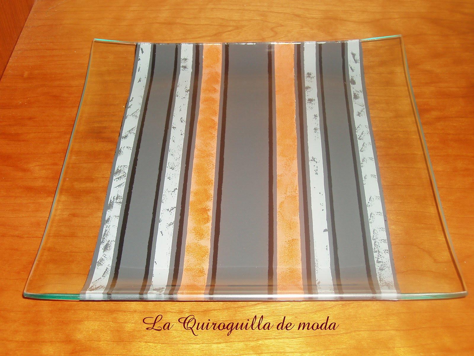 La quiroguilla de moda bandejas de cristal a medida - Bandejas de cristal ...