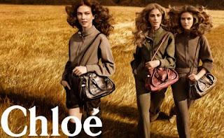 Chloe Karlie Kloss fall 09 campaign