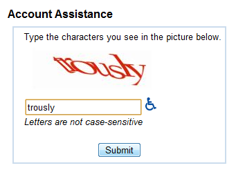 Account Assistance