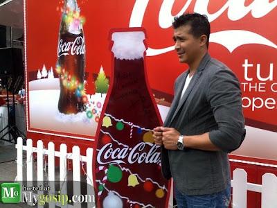Aaron Aziz di Coca Cola event