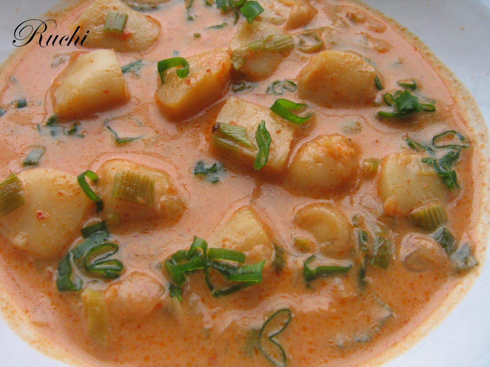 RUCHI: Thai Scallops curry