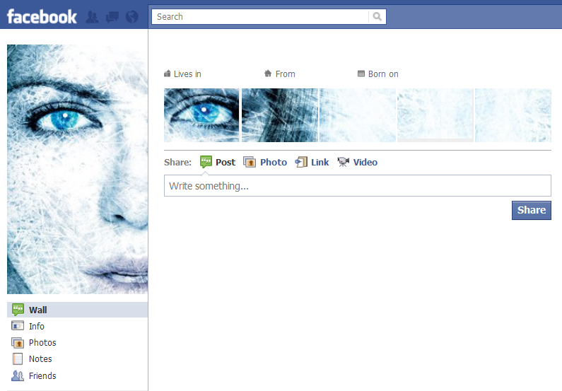 Cool Facebook Profile: 5 - Ice girl - Cool Facebook Profile
