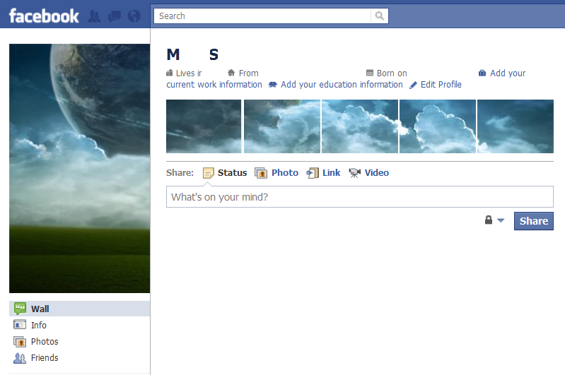 Cool Facebook Profile: 9 - Clouds - Cool Facebook Profile
