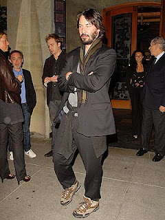 Keanu Reeves Homeless look