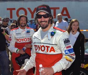 Keanu Reeves Toyota Grand Prix