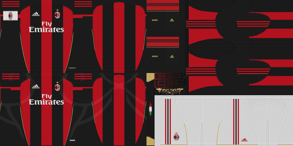 Pes 2011 Demo AC Milan 10/11 Kits Set by CGF