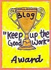 Keep yer nose to the grindstone award!