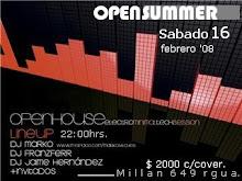OPENSUMMER fiesta electronica!. sab.16/ 22:hrs/ Promo: lista de invitados: info.openhouse@gmail.co
