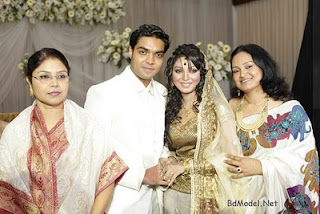 model Prova and Rajib with there parents