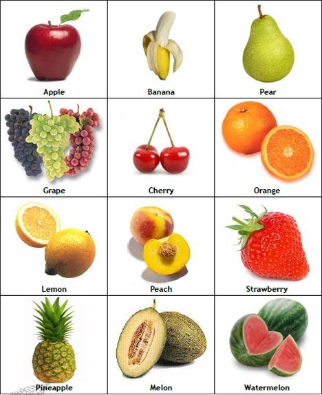 Frutas en inglés imagenes - Imagui