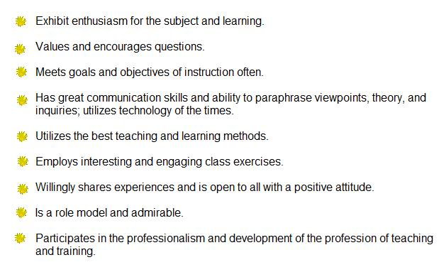 Good Teacher Qualities Characteristics