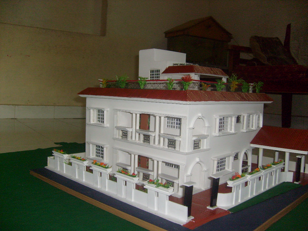 model of a government building 2 farm house models