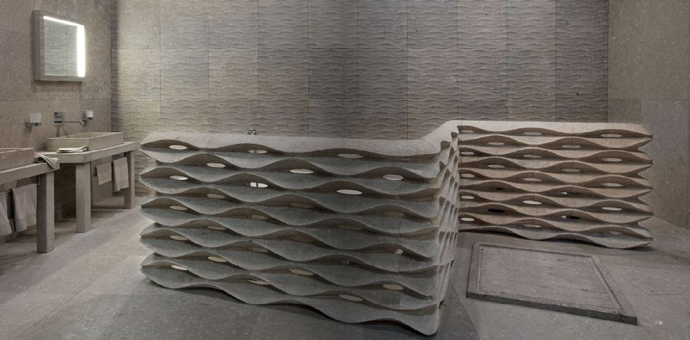 Interior Furniture 3d Stone Walls Cladding From Lithos Design
