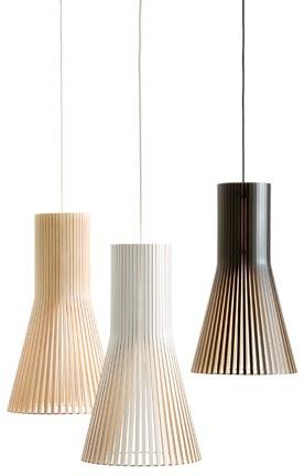 LUNGGO NDEPROK: Wooden, craftsmen lamps from Secto Design