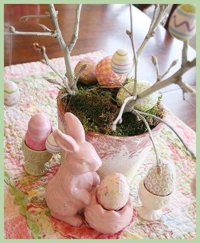 cute easter eggs designs. I made a cute easter tree.