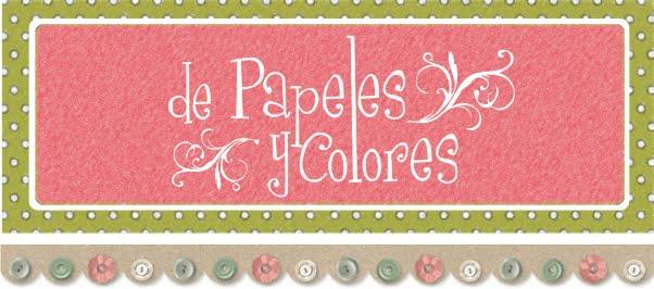 de papeles y colores