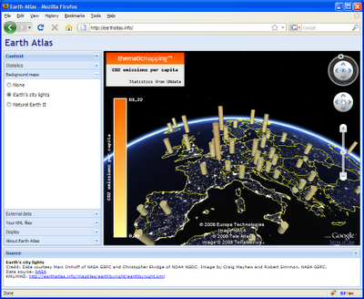 Master maps 2008 the google earth api and the ext js library are used to create a responsive user interface earth atlas contains kml files from the thematic mapping engine sciox Choice Image