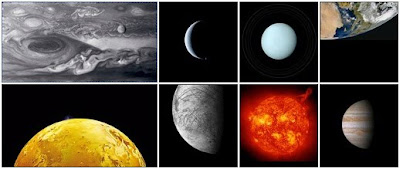 Examples of Solar System Images in New Exhibit