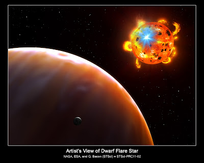 artist's concept of a red dwarf