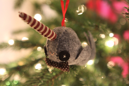 saturday december 11 2010 - Narwhal Christmas Decoration